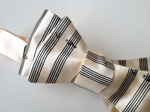 Music Manuscript Paper Bow Tie. Sheet music bowtie.