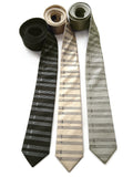 sheet music herringbone silk neckties