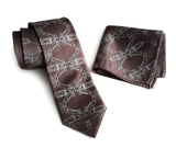 Carlyle print necktie and pocket square