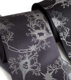 Neuron necktie. Dove on charcoal, black tie.