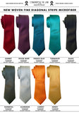 Solid color neckties. Fine stripe woven ties, by Cyberoptix