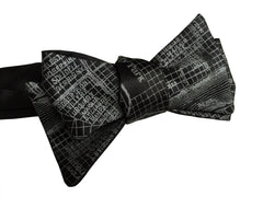 New Orleans Map Bow Tie