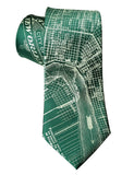 Emerald Green New Orleans Map Print Necktie, Cyberoptix Tie Lab