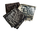 Brooklyn map print pocket squares, by Cyberoptix.