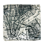 new york city map pocket square, by Cyberoptix. Navy on platinum.