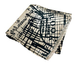 new york map pocket square, by Cyberoptix. Navy on platinum.