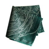 New Orleans Map Pocket Square, emerald green. by Cyberoptix