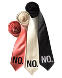 No Print neckties, by Cyberoptix Tie Lab, in rose, cream and black