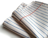 Notebook Paper Pocket Square: platinum.