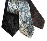 NYC Map Print Neckties, by Cyberoptix
