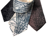 New York City Map Print Neckties, by Cyberoptix