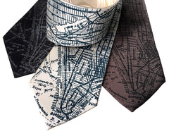 New York City Map Necktie