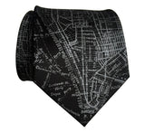 Black New York City Map Necktie, by Cyberoptix