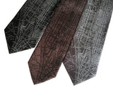 New York City Subway Map Print Neckties, by Cyberoptix