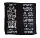 New York City Subway Sign Pocket Square