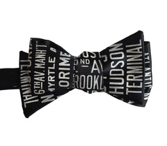 New York City Subway Sign Bow Tie