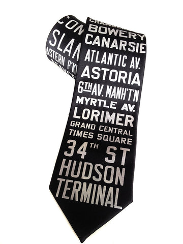 NYC Subway Silk Necktie