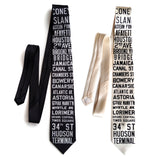New York City Subway Sign Neckties.