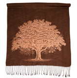 Copper Oak Tree Pashmina Scarf, Winter Accessories, by Cyberoptix