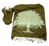 Oak Tree Pashmina Scarf, Gifts for Nature Lovers, by Cyberoptix