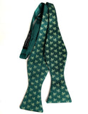 Octopus Print Bow Tie, emerald green. by Cyberoptix