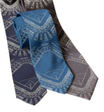 Old Tiger Stadium Blueprint Necktie, Baseball Diamond Tie, by Cyberoptix