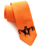 Bat Tie, by Cyberoptix. Black on pumpkin.