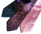 Purple op art neckties