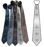 Op Art Triangles Necktie, Design Illustration, by Cyberoptix