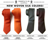 Solid Color Silk Ties, No Print. Standard & Narrow Size