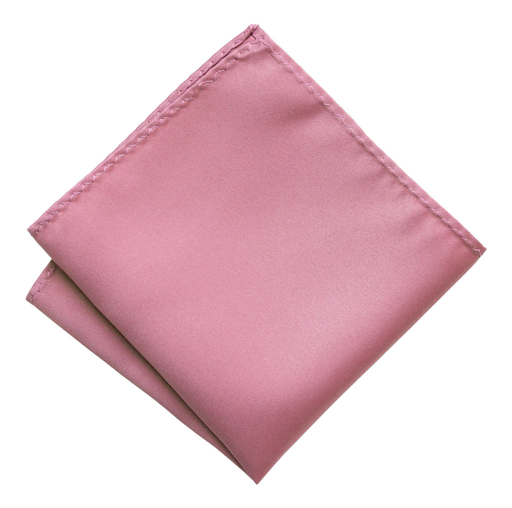 Orchid Pocket Square. Purple-Pink Solid Color Satin Finish, No Print