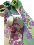 Orchid Floral Neckties: Radiant orchid on celery, clover, chartreuse.