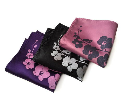 Orchid Floral Pocket Square