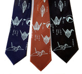 Origami paper folding print neckties, by Cyberoptix