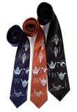 Japanese Crane print neckties, by Cyberoptix