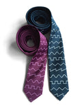 Sound wave neckties, peacock and spiced wine