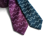 Sound waveform neckties, peacock and spiced wine