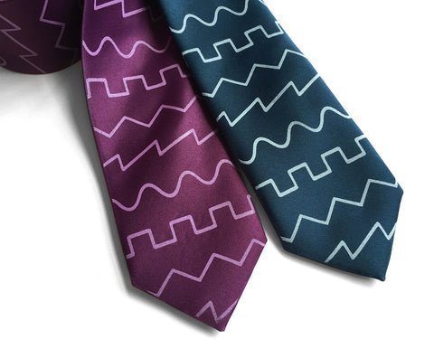 Oscillator Waves silk necktie. Sound Waves Tie