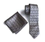 Oscillator Waves necktie. Square, saw, triangle & sine wave tie
