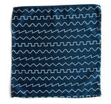 peacock blue sound waves pocket square