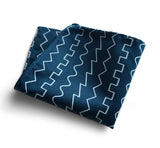 peacock blue oscillator pocket square