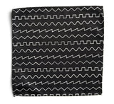 black oscillator pocket square