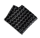 black and white oscillator pocket square