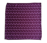 spiced wine sound wave pocket square
