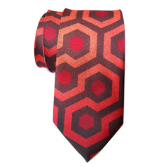 The Shining Inspired Necktie, Overlook Hotel Carpet Pattern
