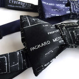 Packard Plant Engineering Blueprint Bow Ties, Detroit Map Ties