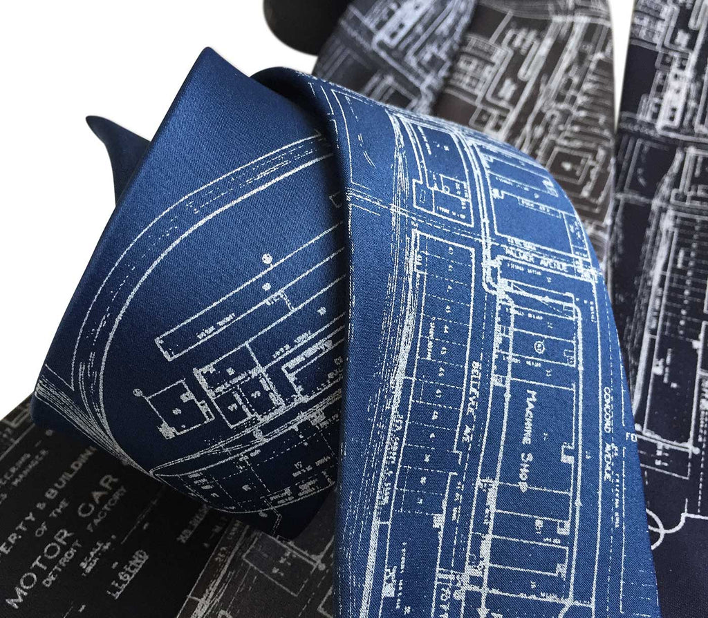 Packard plant engineering blueprint necktie by cyberoptix packard plant engineering blueprint tie packard motors necktie by cyberoptix malvernweather Images