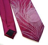 Peacock Feather Silk Necktie