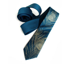 Peacock Feather Necktie