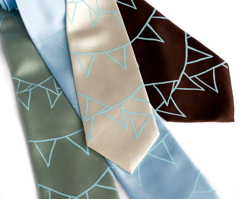 Pennant Flags Silk Necktie.